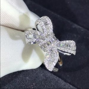 925 sterling Silver luxury bowknot ring 💍